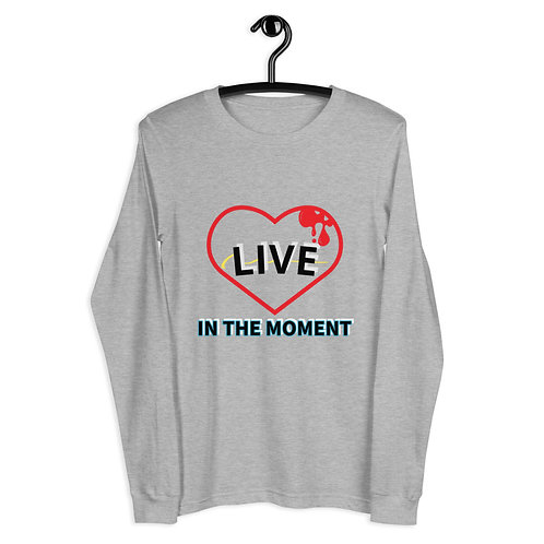 LIVE in the moment Unisex Long Sleeve Tee