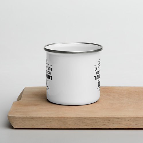 Time is Tick'n Plain Enamel Mug