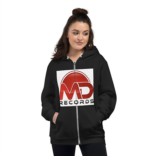MD white background Zip Hoodie