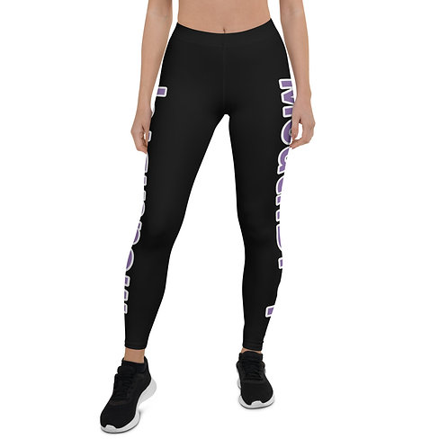 All Black Plum Mouth Dropping Leggings