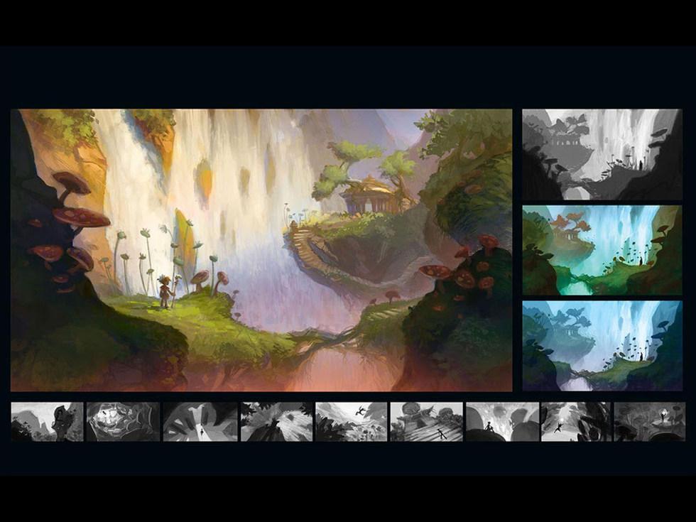 Temple Falls Sketches