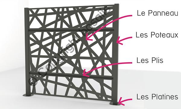 hosaiis claustra cloture brise vue découpe laser alu design