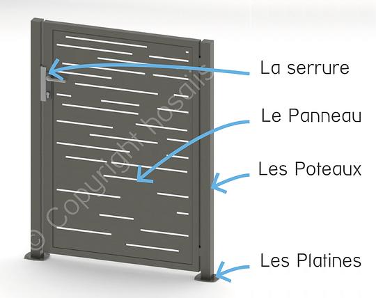 hosaiis portillon design alu decoupe laser