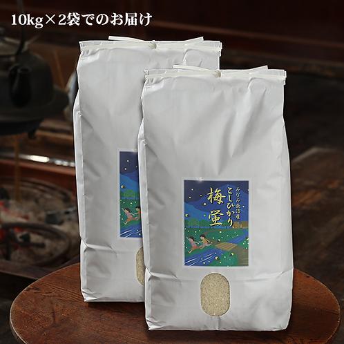 【精米】南魚沼産コシヒカリ「梅蛍」20キロ