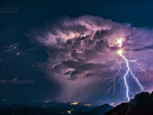 RAIOS E TROVÕES! O que fazer durante uma tempestade com raios na montanha?