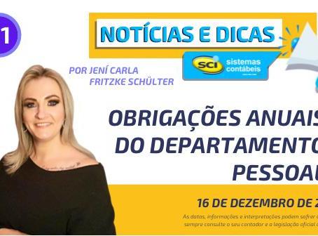 OBRIGAÇÕES ANUAIS DO DEPARTAMENTO PESSOAL