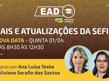 CURSO EAD SCI - RAIS e Atualizações da SEFIP NOVA DATA - QUINTA 01/04
