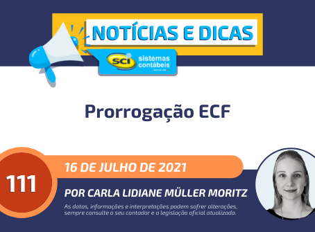 Prorrogação ECF