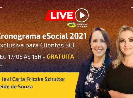 Live Cronograma do eSocial 2021 em 17/05