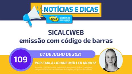 Sicalcweb emissão com código de barras