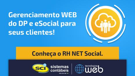 RH NET Social - Gerenciamento WEB do DP e eSocial para seus clientes!