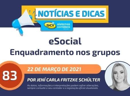 Enquadramento nos GRUPOS do eSocial