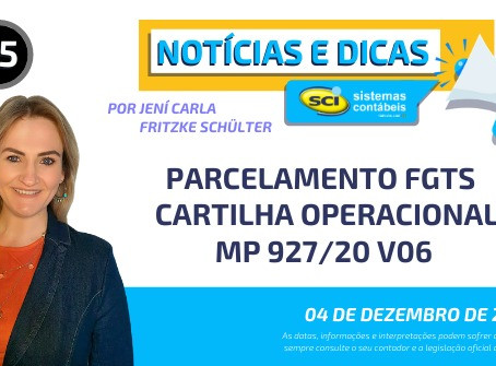 PARCELAMENTO FGTS - CARTILHA OPERACIONAL - MP 927/20 V06