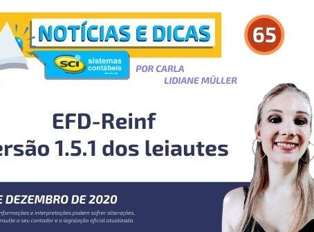 EFD-Reinf versão 1.5.1 dos leiautes
