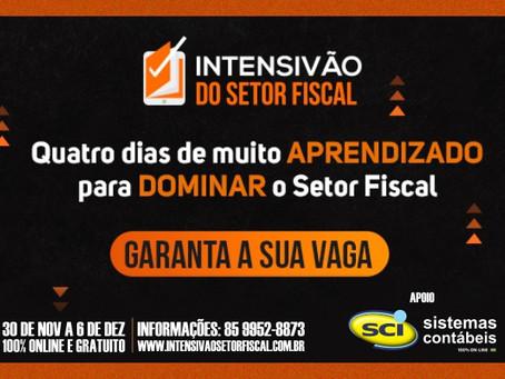 Evento On-line e 100% - GRATUITO Intensivão do Setor Fiscal