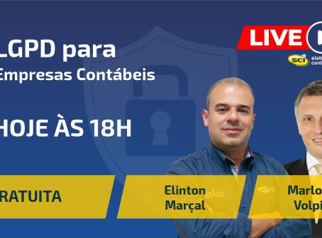 LIVE SCI - HOJE ÀS 18H - GRATUITA LGPD para Empresas Contábeis!