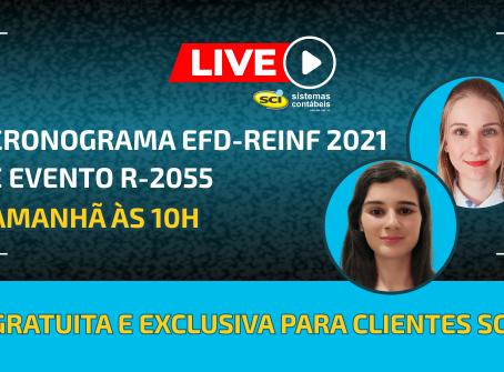Live Cronograma EFD-Reinf 2021 e Evento R-2055 em 18/05