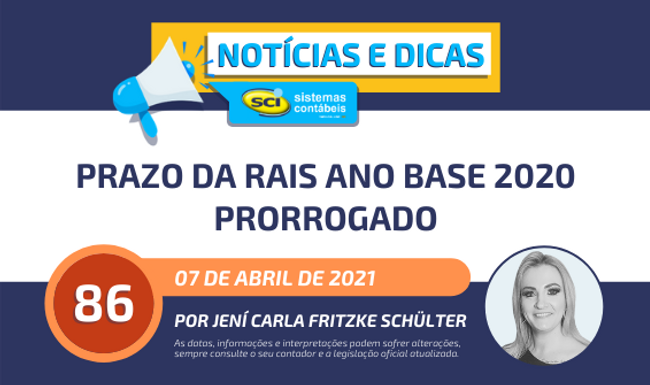 Prazo da RAIS ano base 2020 prorrogado