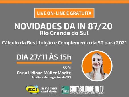 🛎 NESTA SEXTA TEM LIVE GRATUITA SCI - 27/11 ÀS 15H