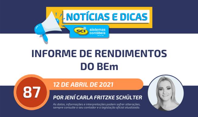 Informe de Rendimentos do BEm/2020