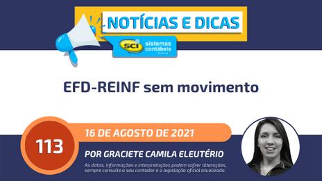 EFD-REINF sem movimento