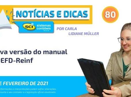 Nova versão do manual da EFD-Reinf