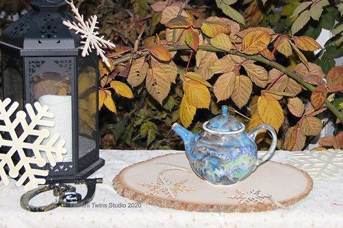 Aurora Lights in Ireland Teapot