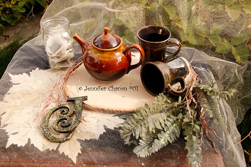 Early fall morning  included One tea pot two 8ounce mugs