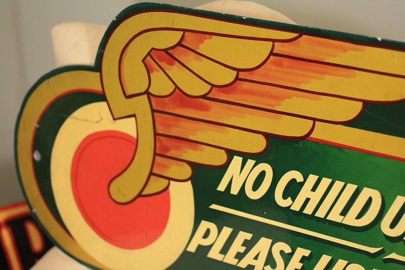 Vintage fairground sign