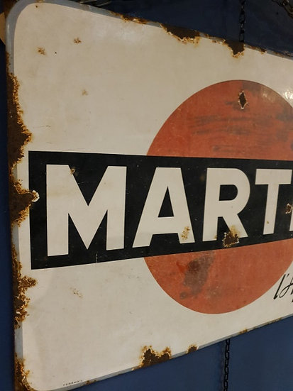 Enamel Martini Sign