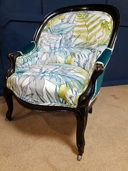 Upholstered ladies chair