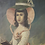 Thumbnail: 19th century primitive oil on canvas girl and her dog