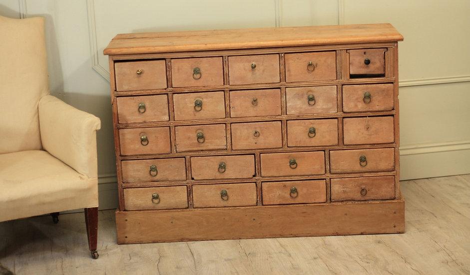 19th Century pine drawer unit
