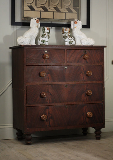 Faux bookmatched drawer unit