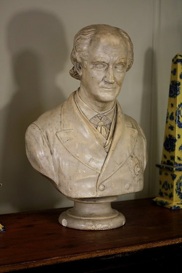 Large 19th century plaster bust by Geflowski