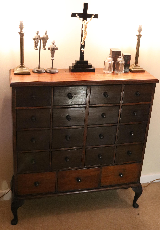 mahogany drawers
