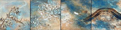 膠彩 木質藝術