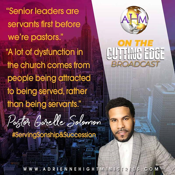 On The Cutting Edge Quote from Pastor Ga