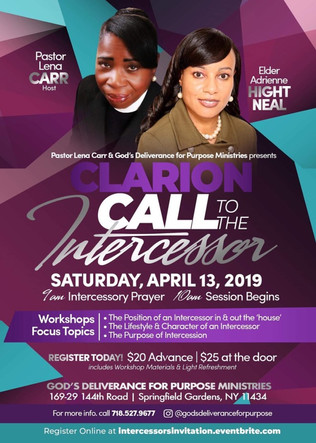 Clarion Call to the Intercessor - Sat 4-