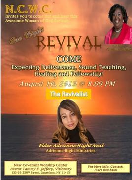 New Covenant 1 night revival - Fri 8-16-