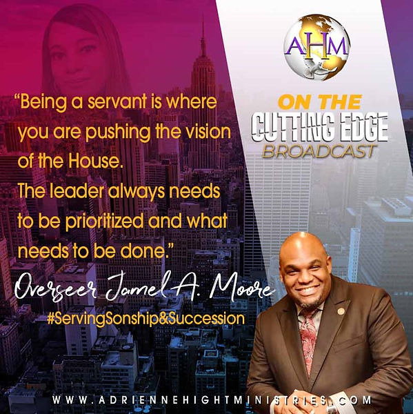 On The Cutting Edge Quote from Pastor Ja