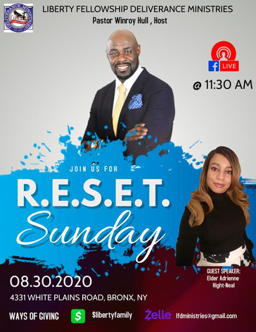 RESET Sunday 8-30-2020 Liberty Fellowshi