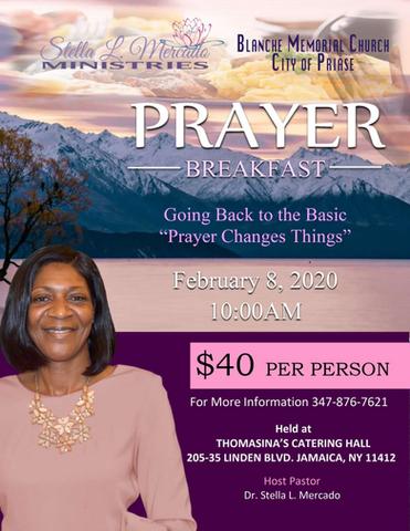 Blanche Memorial Church - Prayer Breakfa