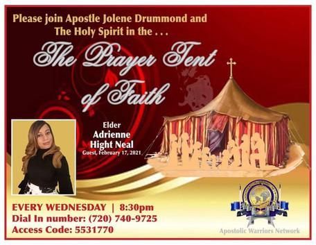 The Prayer Tent of Faith with Apostle Dr