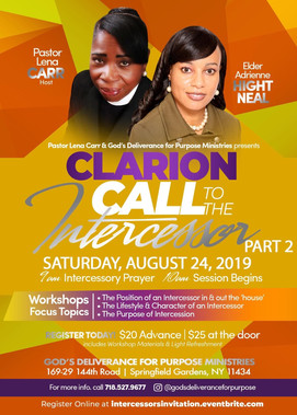 Clarion Call to the Intercessor - Sat 8-