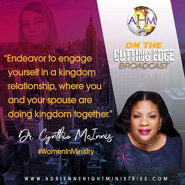On The Cutting Edge Qote - Dr Cynthia Mc