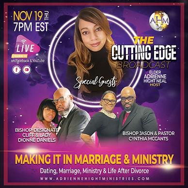 The Cutting Edge Flyer - Thursday 11-19-