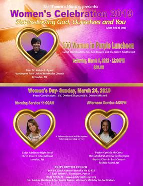 Amity Baptist Church Flyer - Women's Cel