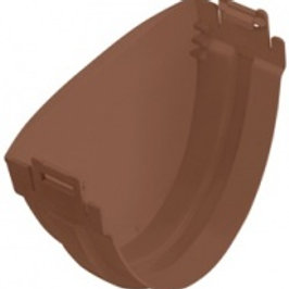 Заглушка ПВХ водосточного желоба, стандарт, коричневая
