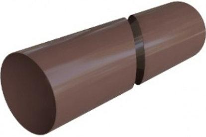 Труба водосточная, длина 4 м, диаметр 95, элит, коричневая